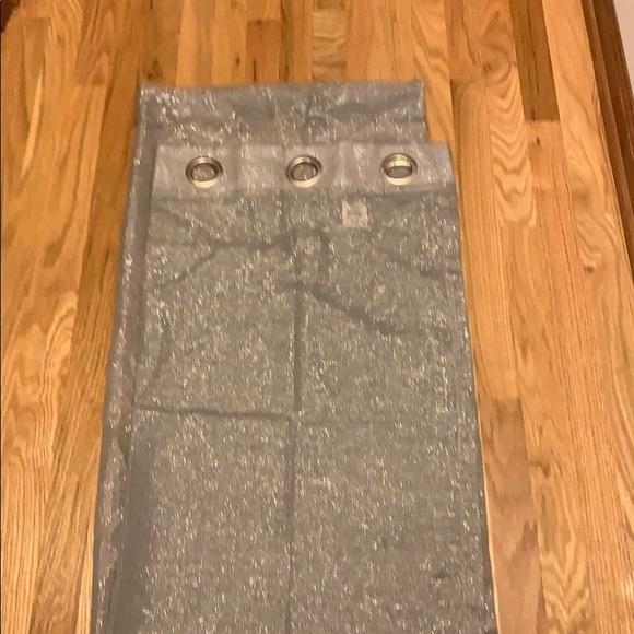 2 - Grey/Silver metallic curtain.